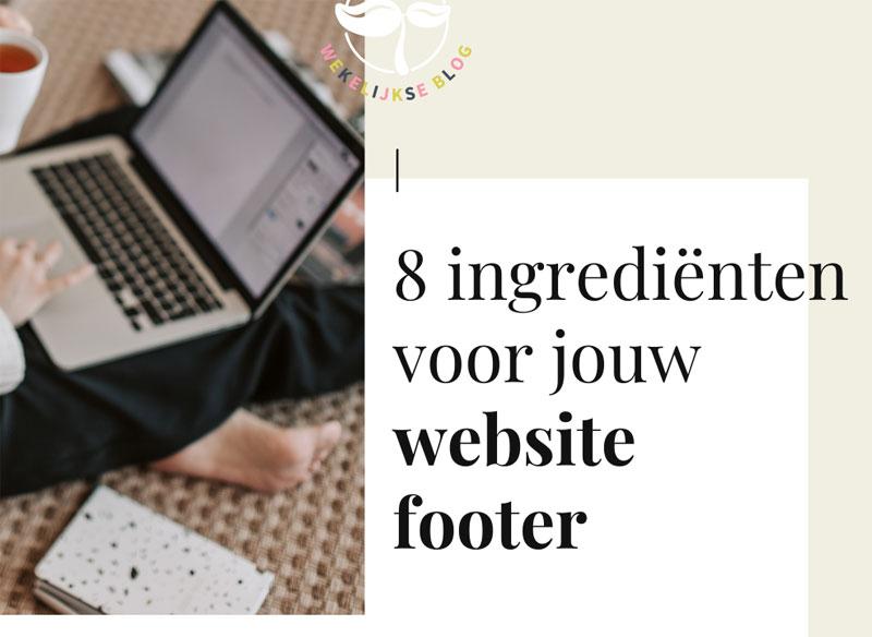 Wat zet je in de footer van je website?